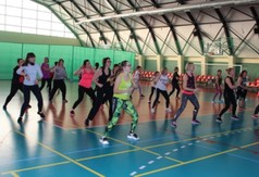 Na zdjęciu ćwiczące panie podczas Charytatywnego Maratonu dla Hani Bednarz