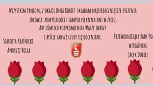 Życzenia z okazji Dnia Kobiet.