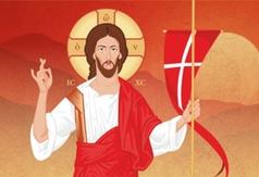 Grafika - Wielkanoc 2020 - Chrystus Zmartwychwstały