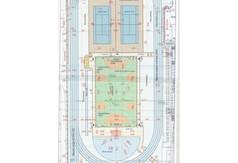 Plan graficzny boiska wielofunkcyjnego przy ZS nr 3 w Kraśniku. (link otworzy duże zdjęcie)