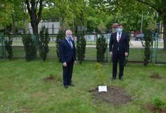 Na zdjęciu Poseł na Sejm RP Kazimierz Choma, Starosta Kraśnicki Andrzej Rolla. (link otworzy duże zdjęcie)