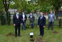 Na zdjęciu Poseł na Sejm RP Kazimierz Choma, Starosta Kraśnicki Andrzej Rolla, Przewodniczący Rady Po
