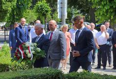 Przedstawiciele Powiatu Kraśnickiego, Andrzej Rolla Starosta Kraśnicki, Jacek Dubiel Przewodniczący Ra