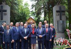 Wojewódzkie Obchody Dnia Walki i Męczeństwa Wsi Polskiej. Na zdjęciu uczestnicy uroczystości.