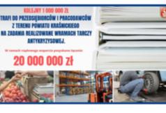 Grafika dodatkowy milion złotych trafi do przedsiębiorców i pracodawców z terenu Powiatu Kraśni