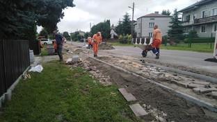 Budowa chodnika w Gminie Dzierzkowice