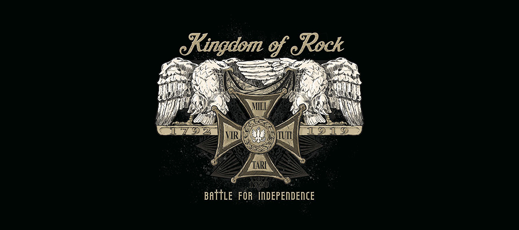 Grafika - Okładka singla Battle for Independence zespołu Kingdom of Rock (link otworzy duże zdjęcie)