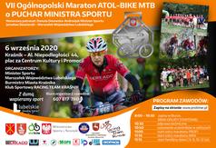 Plakat promujący VII Ogólnopolski Maraton Kolarski MTB. (link otworzy duże zdjęcie)