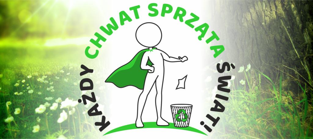 Grafika - Logo konkursu Każdy Chwat sprząta Świat! (link otworzy duże zdjęcie)