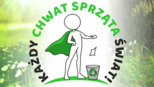 Grafika - Logo konkursu Każdy Chwat sprząta Świat!