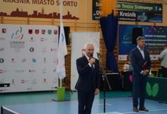 Starosta Kraśnicki Andrzej Rolla podczas ceremonii otwarcia.