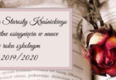 Grafika -Stypendia Starosty Kraśnickiego za wybitne osiągnięcia w nauce w roku szkolnym 2019/2020