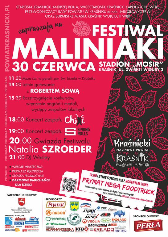 Plakat Festiwal Maliniaki