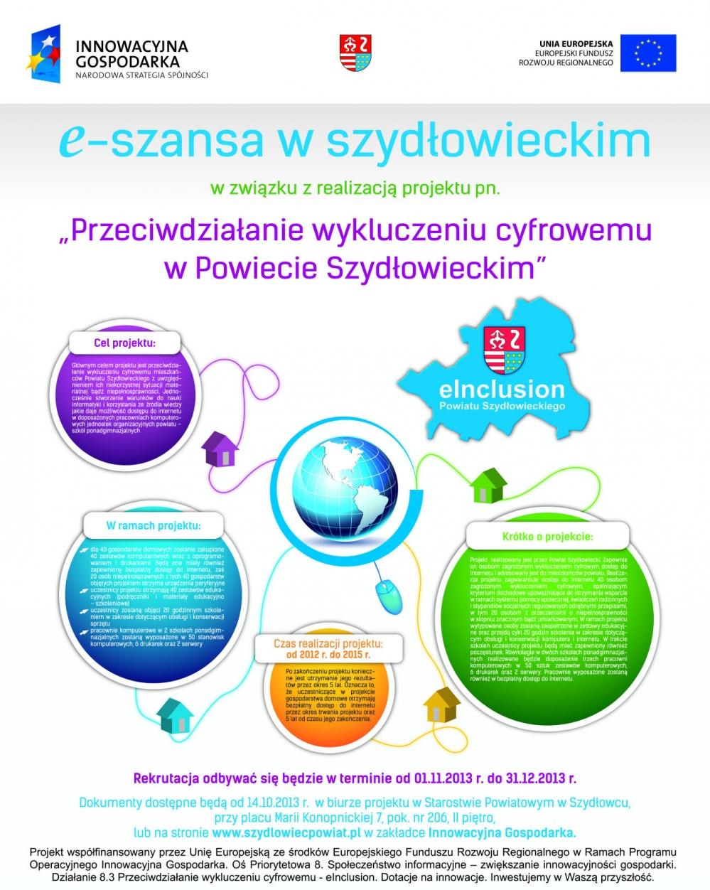 Plakat Przeciwdziałanie wykluczeniu cyfrowemu w Powiecie Szydłowieckim [999x1252]