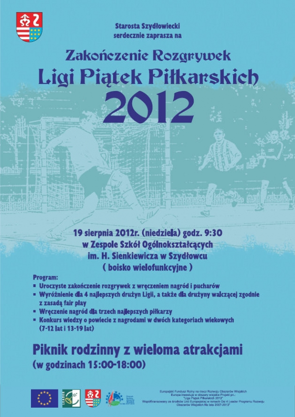 Plakat Zakończenie Rozgrywek Ligi Piątek Piłkarskich 2012 [600x848]