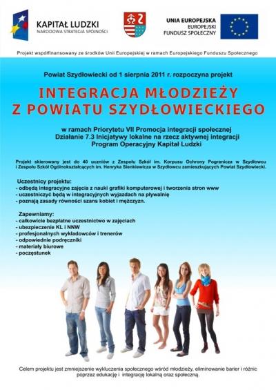 Plakat Integracja młodzieży z powiatu Szydłowieckiego [400x565]