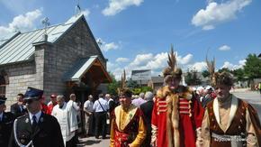poświęcenie odnowionej kapliczki w Pawłowie