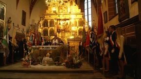 mszę celebrował ks. ppłk SG Ryszard Preuss Kapelan Nadwiślańskiego Oddziału Straży Granicznej