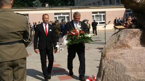 Burmistrz Szydłowca Artur Ludew z Radnym Miejskim Tadeuszem Rutem