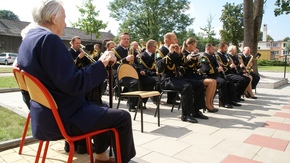po oficjalnych uroczystościach do wysłuchania koncertu zaprosiła Orkiestra Morskiego Oddziału Straży