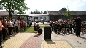 Orkiestra Morskiego Oddziału Straży Granicznej zagrała na placu apelowym