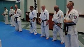 od lewej shihan Jon Campbell, Sergey Lukyanchikov, Klaus Rex, Roman Szyrajew, Roman Kucfir, Gabriel Berlu