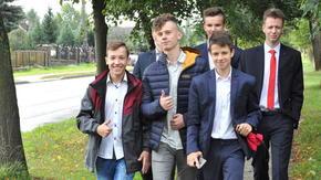 uczniowie Zespołu Szkół im. KOP w Szydłowcu