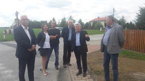 Komisja pod przewodnictwem Adama Włoskiewicza, Wicestarosty,  odebrała inwestycję w Mirowie Starym.