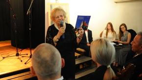 Irena Przybyłowska-Hanusz podczas spotkania promującego jej najnowszą publikację, fot. W.Wismont