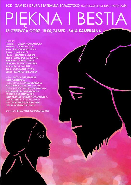 Piękna i Bestia plakat informacyjny