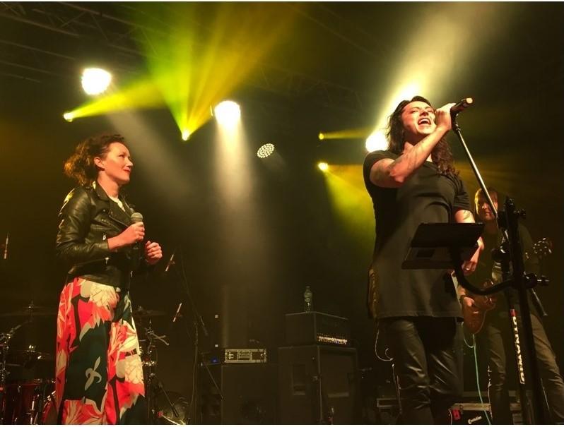 Ania Brachaczek i Juan Carlos podczas zeszłorocznego koncertu