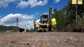 Trwają prace budowlane na ul. Książek Nowy w ciągu drogi powiatowej nr 4018W Szydłowiec-Majdów