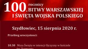 plakat z informacjami:Burmistrz Szydłowca Artur Ludew oraz Rada Miejska w Szydłowcu zapraszają n
