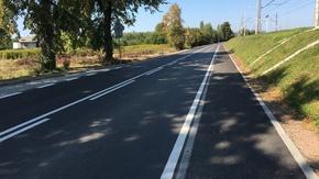 droga powiatowa Jastrząb - Gąsawy Rządowe na odcinku Jastrząb-Gąsawy Plebańskie, fot. M.Kisiel