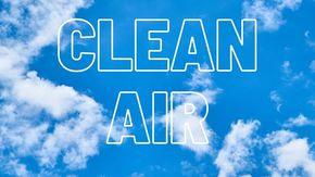 grafika z napisem clean air