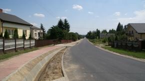 Przebudowana droga powiatowa