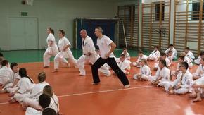 egzamin na sali gimnastycznej w Orońsku