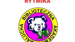 PLAKAT INFORMACYJNY. RYTMIKA DLA MALUCHA z Panią Danutą Klepaczewską. Spotkanie odbędzie się 23 marc