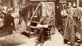 zdjęcie Juliusza Miena - Jan Matejko w pracowni w Szkole Sztuk Pięknych w Krakowie, 1891 r.