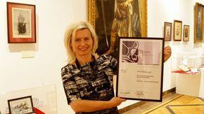 dr Aneta Oborny, dyrektor Muzeum Ludowych Instrumentów Muzycznych z wyróżnieniem