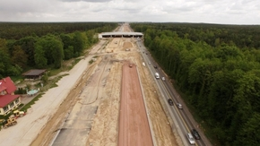 Budowa drogi S7 w okolicy Szydłowca. Fot: www.s7radom-granica.pl
