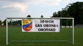 bramka z banerem 50 lecie GKS ORONKA Orońsko