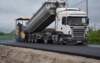Rozbudowa drogi powiatowej nr 2807C Osięciny – Wieniec - Włocławek etap III i etap IV. Prace prowad