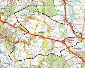 Mapa położenia Gminy Kornowac [300x239]