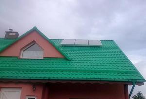 Solar na zielonym dachu domu [300x203]