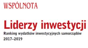 Logo Liderzy Samorządowych Inwestycji