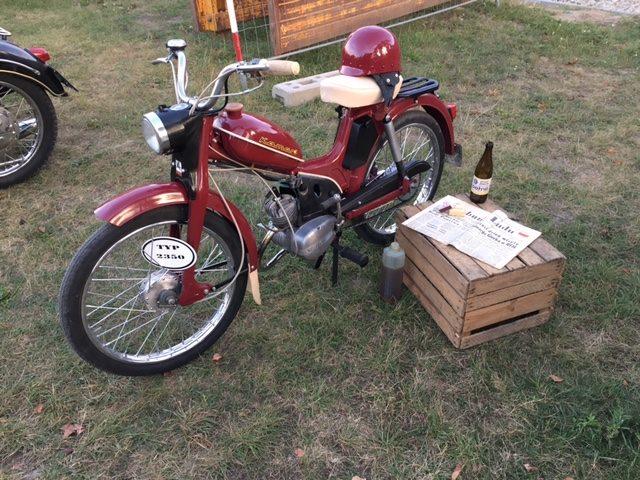 Jeden z eksponatów Muzeum - zabytkowy motocykl