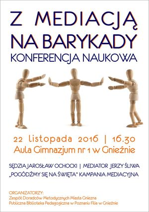 Plakat konferencji o mediacji