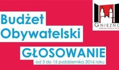 Nagłówek w formie graficznej, zachęcający do głosowania na tegoroczną edycję Budżetu Obywatelskie