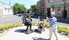 Zdjęcie rzeźby Bolesława Śmiałego (link otworzy duże zdjęcie)